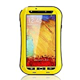 Nancy's Shop Samsung Galaxy Note 3 Water Resistant Screen Protector Case Cover, Lifetime Warranty Slim Fitted Water Resistant Shock Proof Dust Proof Dirt Proof Snow Proof Hard Shell Heavy Duty Armor Case Cover for Galaxy Note 3 III N900 N9000 N9002 N9005 N9009 Ghocas78 (Yellow)
