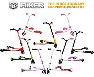 100% Genuine Children's Fliker Scooters - Yvolution - Multiple Options / Colours: Pink/Green/Black/Yellow/Orange/Red!