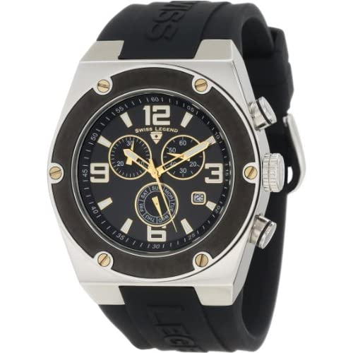Swiss-Legend-Mens-SL-30025-01-BB-GA-Throttle-Black-Silicone-Watch