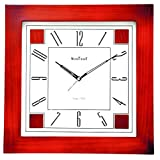 WOOD CRAFT Ws-1131 Sweep Wall Clock (wood Case - White Dial) Size- 32.5 X 32.5 C.m.