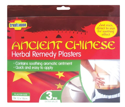 Treat & Ease Ancient Chinese Herbal Remedy Plasters 3pk (pack of 3)