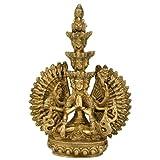 "Redbag - Avalokiteshvara Brass Statue - 3477 (7.25"" X 5.50"" X 1.75"")"