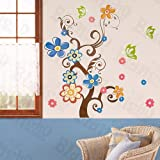Sheep & Tree - X-Large Wall Decals Stickers Appliques Home Decor