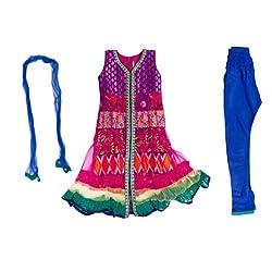 Pintoo Apparels Girls Pink Traditional Salwar Set for 7-8 Years