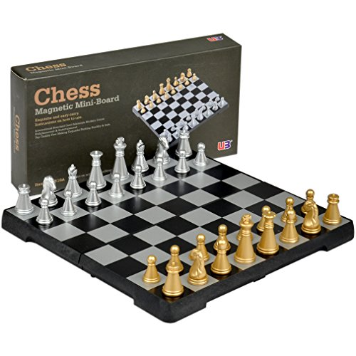 Yellow Mountain Imports Travel Magnetic Chess Mini-Set (Portable Chess Board compare prices)