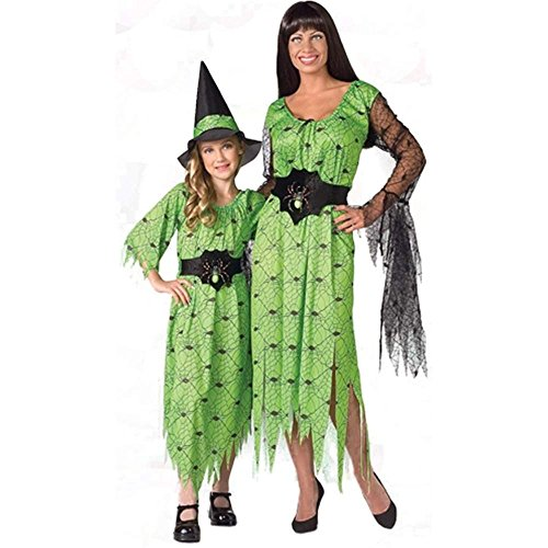 Child Webbed Witch-Lime Kids Costume