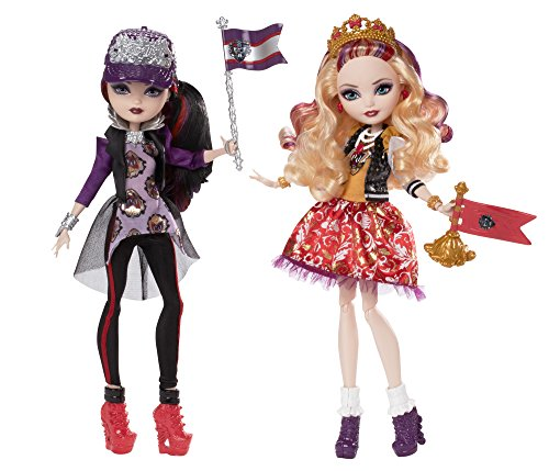 ever-after-high-toy-school-spirit-apple-white-and-raven-queen-deluxe-fashion-doll-2-pack