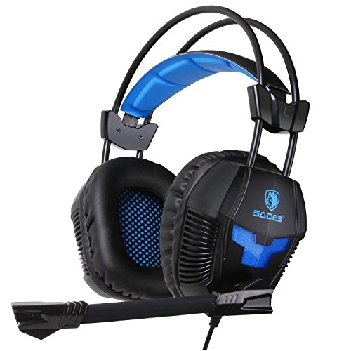 Sades SA921 Gaming Headset 3.5mm Jack for PS4 Mac PC iPhone Smart Phone Laptop with Microphone