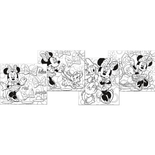 Minnie Mouse 'Bow-Tique' Color-Your-Own Puzzles (4ct) - 1