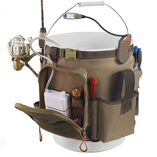 Wild River by CLC WL3506 Tackle Tek Rigger Lighted Bucket Organizer with Plier Holder and Retractable Lanyard (Bucket Not Included)