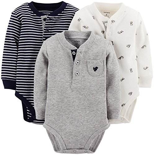 Carter'S 3 Pack Bodysuits (Baby) - Assorted-24 Months front-1035692