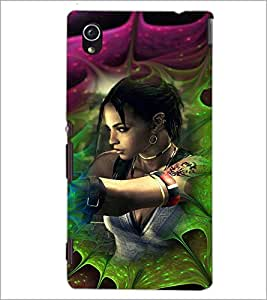 PrintDhaba Bold Girl D-4618 Back Case Cover for SONY XPERIA M4 AQUA (Multi-Coloured)