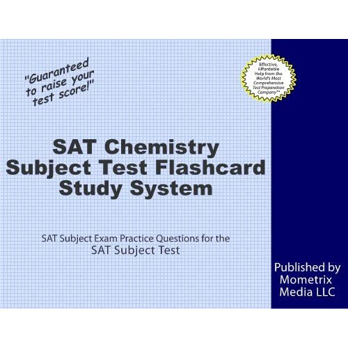 SAT Chemistry Subject Test Flashcard Study System SAT Subject Exam