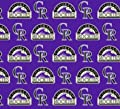 "Major League Baseball Colorado Rockies - 100% Cotton, 60"" Wide By the Yard"