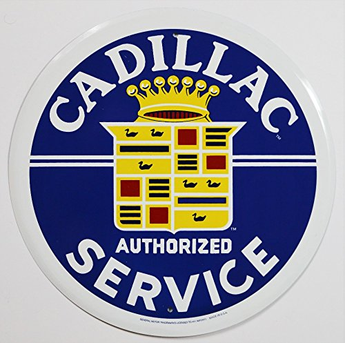 cadillac-service-round-tin-sign-12-x-12in