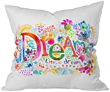DENY Designs Stephanie Corfee Dream A Little Throw Pillow, 20 x 20