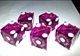 5 x Pink Harveys Casino Craps Dice / Die