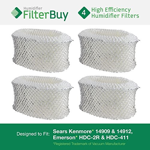 4 - Holmes & Sunbeam Part # HWF62, Hamilton Beach Part # 05910 Humidifier Replacement Filters. Designed by FilterBuy in the USA. (Sunbeam Humidifier Filter Scm1701 compare prices)
