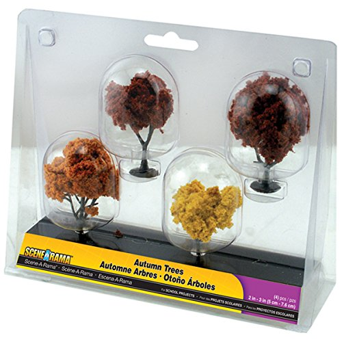 Woodland Scenics Autumn Trees, 2-Inch to 3-Inch, 4-Pack - 1