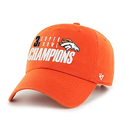 NFL Denver Broncos 3-Time Champs 2015 Super Bowl 50 Champions Clean Up Adjustable Hat, Orange, One Size