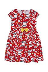 Chalk by Pantaloons Girl's Skater Dress (205000005655220, Red, 2-3 Years)