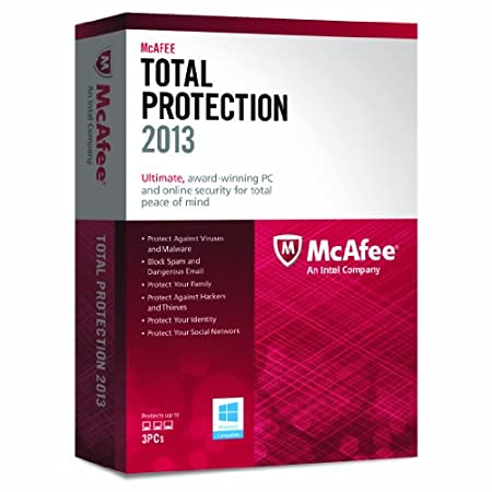 McAfee Total Protection 2013 - 3 PCs, 12 month Subscription (PC)