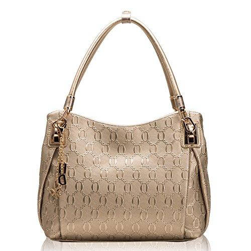 Moda Donna semplice spalla borsetta per doni 30*12*26cm i cavalli di castagno