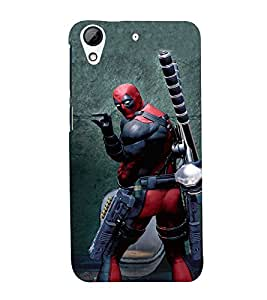 EPICCASE Ninja Series Mobile Back Case Cover For HTC Desire 728 (Designer Case)