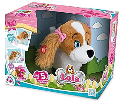 "IMC Toys ""Lola The Dog"" Animal Plush Toy (Brown/White)"