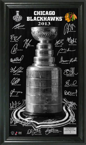 NHL Chicago Blackhawks 2013 Stanley Cup Champions Signature Pano