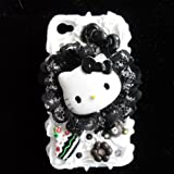 Hello kitty with Bud silk- 3d Cake Ice Cream Hard Back Cover Cases Skins for Iphone 4 4s + Free Protective Film by catgift store