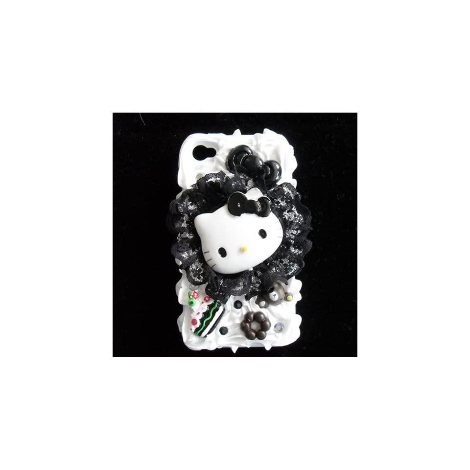 Hello Kitty 3d Cake Ice Cream Hard Back Cover Cases Skins for Iphone 4 4s + Free Protective Film
