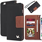 iPhone 6 plus case,(5.5)By HiLDA,Wallet Case,PU Leather Case,Credit Card Holder,Flip Cover Skin[Black]