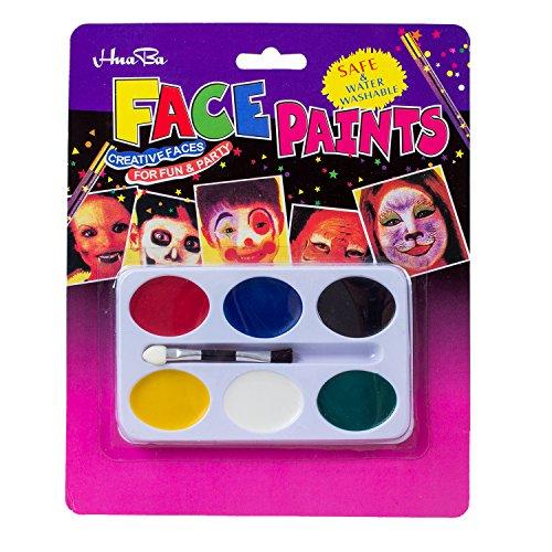 TOOGOO(R) Palette Peinture 6 Couleurs Maquillage Visage Corps pour Fete Halloween