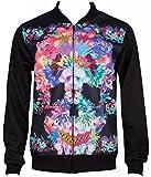 Kayden K Sublimation Floral Skull Men's Bomber Style Jacket