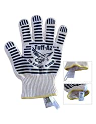 #1 Oven Mitts (2)(Kevlar) Handle Incredible Heat Safely with 100% Comfortable Cotton... by