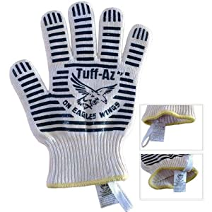 Superior Kevlar Heat Resistant Gloves - A Pair Of Heat Proof Pot Holder Mitts Keep You... by On Eagles Wings