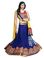 Indian Marvelous Blue colored Embroidered Lehenga Choli By Triveni