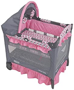 Graco Travel Lite Crib with Bassinet, Ally