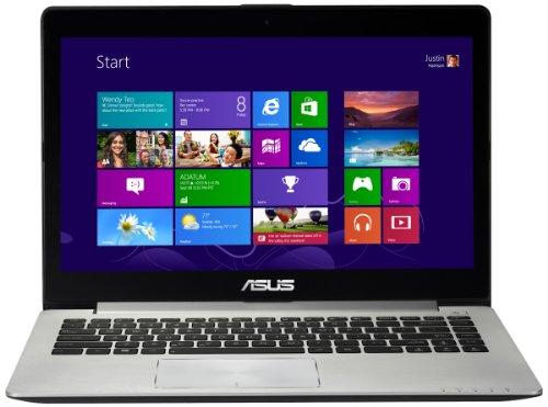 Asus VivoBook S400CA 14-inch Touchscreen Laptop - Silver (Intel Core i3 2365 1.4GHz, 4GB RAM, 500GB HDD, LAN, WLAN, Webcam, BT, Integrated Graphics, Windows 8)
