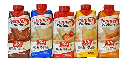 premier-protein-shake-chocolate-vanilla-strawberry-banana-caramel-11-ounce-pack-of-5