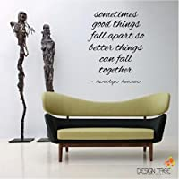 Marilyn Monroe Wall Decal Decor Quote SOMETIMES GOOD THINGS ... Nice MATTE BLACK by Design Tree