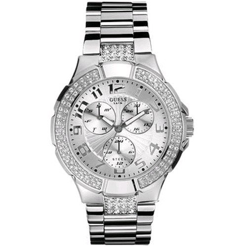 GUESS Women's+WaterPro® Swarovski Crystal+Watch