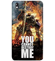 PrintVisa Quotes & Messages Attitude 3D Hard Polycarbonate Designer Back Case Cover for HTC Desire 816