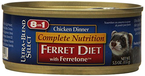 8 In 1 Pet Products SEOH451 Ultra Blend Soft Moist Ferret Chicken Dinner, 6-Ounce