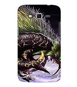 Fuson Premium Dragon Printed Hard Plastic Back Case Cover for Samsung Galaxy Grand 2 G7102 G7106