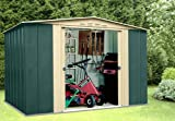 The Deluxe Boston Steel Garden Shed - Roof Size 8ft x 6ft (245cm x 185cm)