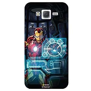 Hamee Original Marvel Character Licensed Designer Cover Slim Fit Plastic Hard Back Case for Samsung Galaxy J7 - 2016 Edition ( Iron Man Illustration3 )