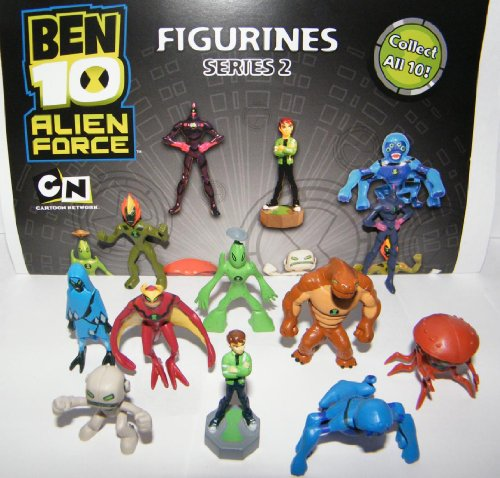Ben 10 Mini Figure - Alien Force Set of 11 Vending Toy Figures (Ben 10 Alien Force Figure compare prices)