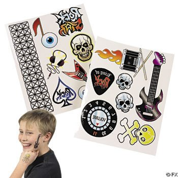 Rock Star Temporary Tattoo Sheets (1 dz)